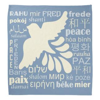 PEACE in many languages bandana