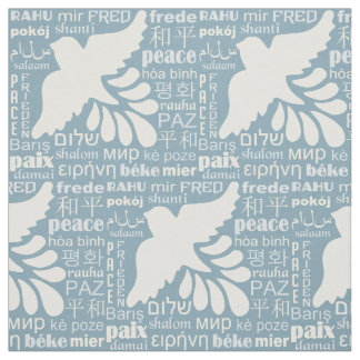 PEACE in many languages custom color fabric