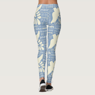 PEACE in many languages custom color leggings
