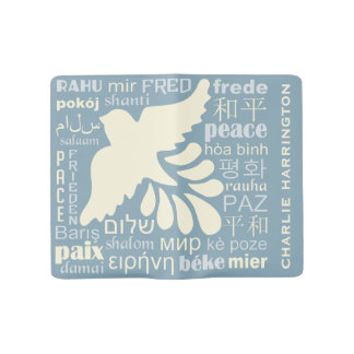PEACE in many languages custom name notebooks
