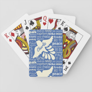 PEACE in many languages custom name playing cards