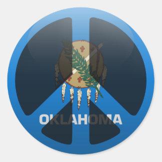 Peace in Oklahoma Classic Round Sticker