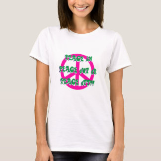 Peace In Out or Off Women's Basic T-Shirt