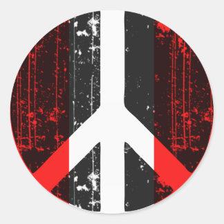 Peace In Peru Classic Round Sticker