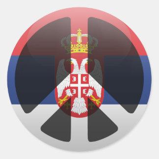 Peace in Serbia Classic Round Sticker