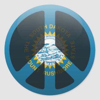 Peace in South Dakota Sticker