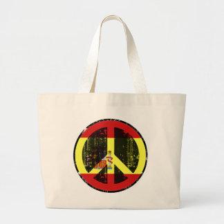 Peace In Spain Large Tote Bag