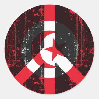Peace In Tunisia Classic Round Sticker