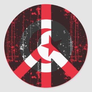 Peace In Tunisia Round Sticker