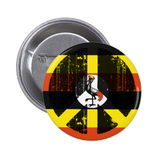 Peace In Uganda 6 Cm Round Badge