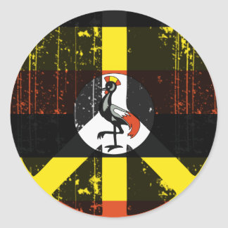 Peace In Uganda Round Sticker