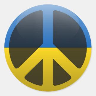 Peace in Ukraine Classic Round Sticker