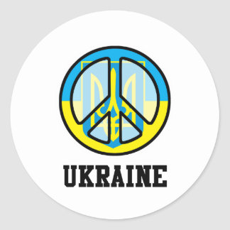 Peace In Ukraine Classic Round Sticker