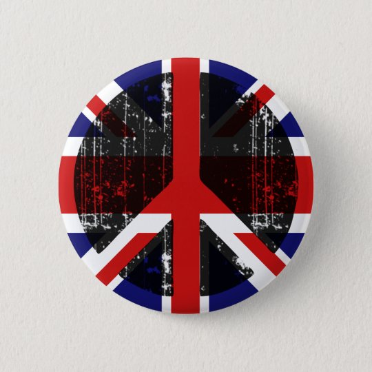 Peace In United Kingdom 6 Cm Round Badge