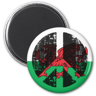 Peace In Welsh Fridge Magnets