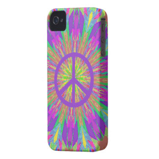 Peace iPhone 4 Case with Psychedelic Tie Dye