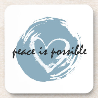 Peace is Possible Beverage Coaster