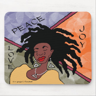 Peace, Joy and Love Mouse Mat