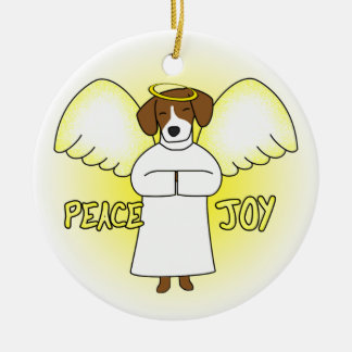Peace Joy Angel Beagle Christmas Ornament