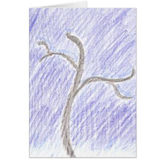 Peace & Joy blank winter holiday card
