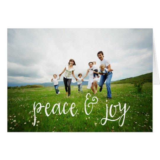 Peace & Joy Christmas Photo Greeting Card