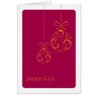 Peace & Joy Custom Folded Christmas Card