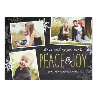 Peace & Joy Holiday Christmas Card