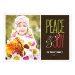 Peace & Joy Holiday Photo Cards Custom Invites