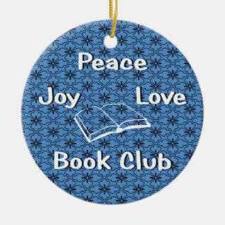 peace,joy,love,book club ornament