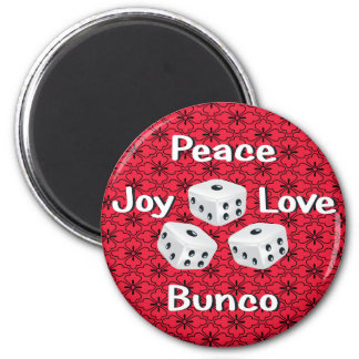 peace,joy,love,bunco magnet