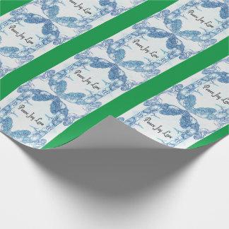 Peace Joy Love Dove Mandala Patterned Wrapping Paper