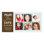 Peace-Joy-Love Family Holiday Photocard (ice) Photo Cards
