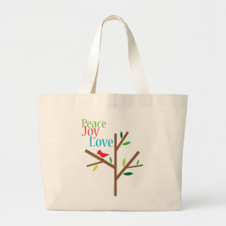 Peace Joy Love Holiday Tote