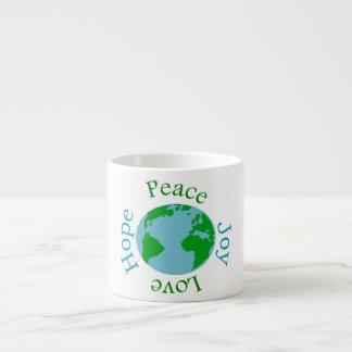 Peace Joy Love Hope Espresso Mug