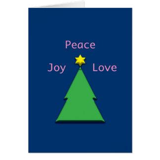 Peace Joy Love Interfaith Chrismukkah Greeting Card