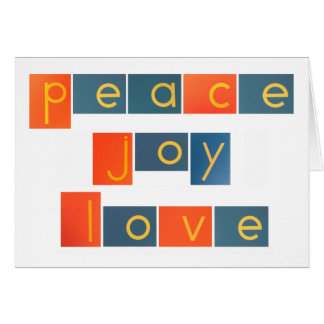 PEACE JOY LOVE Sandpaper Letters Card