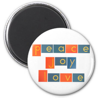 PEACE JOY LOVE Sandpaper Letters Magnet