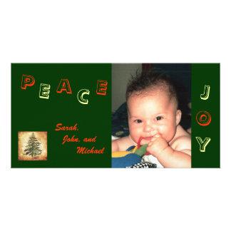 Peace Joy Photo Card