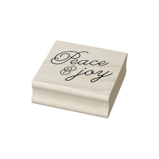 Peace & Joy Rubber Stamp