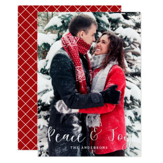Peace & Joy Vertical Photo Christmas Card