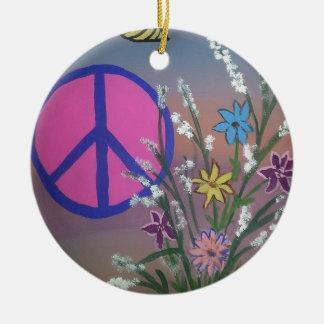 Peace.jpg Round Ceramic Decoration