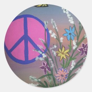 Peace.jpg Round Sticker