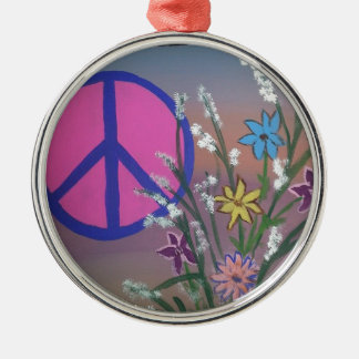 Peace.jpg Silver-Colored Round Decoration