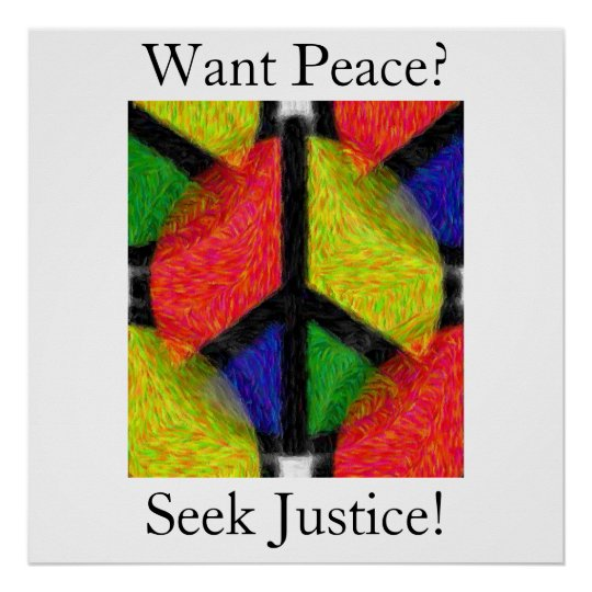 PEACE & JUSTICE POSTER
