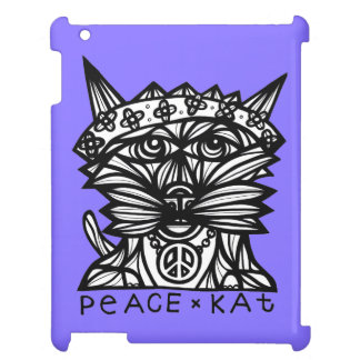 """Peace Kat"" 631 Art iPad Case"
