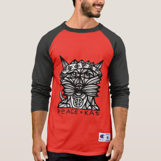 """Peace Kat"" BuddaKats Men's Raglan Shirt"