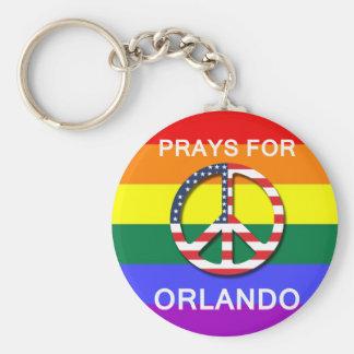 "Peace Keychain 5,7 cm - ""Prays Will be Orlando """