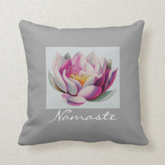 Peace l Beautiful Pink Lotus Flower/Water Lily Cushion