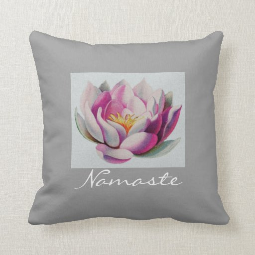 Peace l Beautiful Pink Lotus Flower/Water Lily Pillows