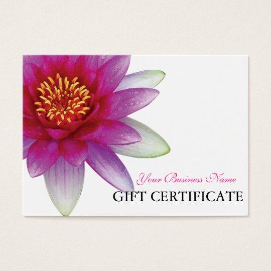 Peace l Beautiful Pink Lotus Gift Certificate